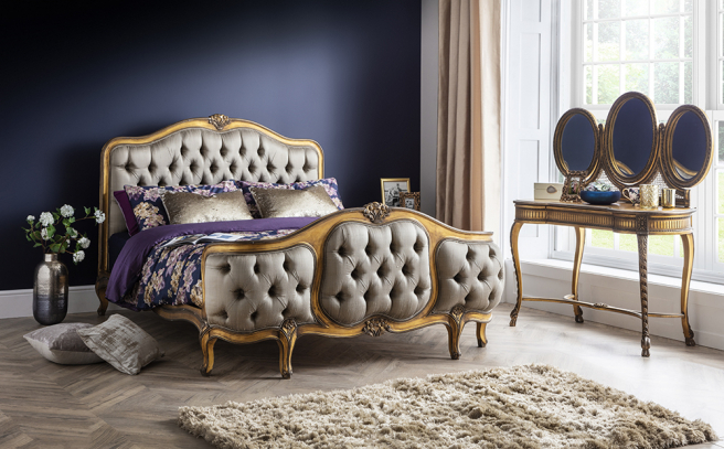 Antique Gold Leaf French Style Furniture