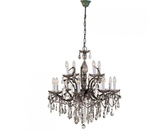 2 Tier Smoked Glass Chandelier