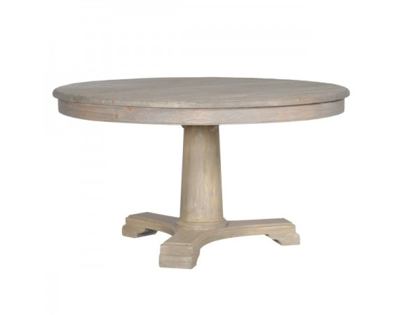 Lustre Natural Wood Round Dining Table