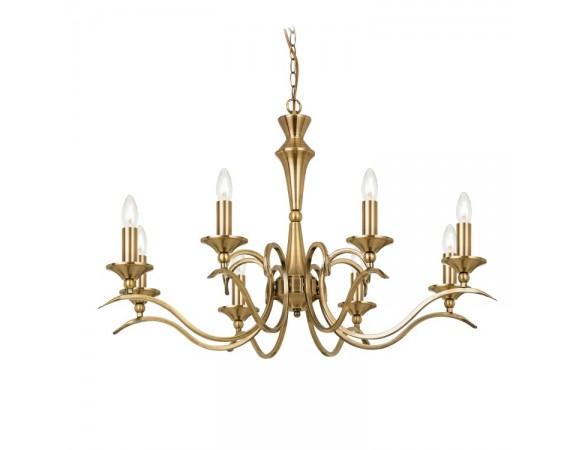 Kora 8 Pendant Light Antique Brass