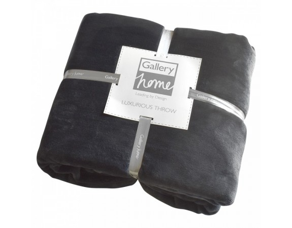 Luxury Throw Charcoal