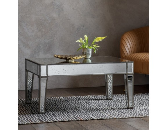 French Mirrored Coffee Table Crown French Furniture