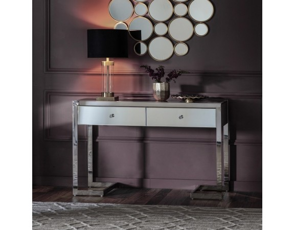 Cutler 2 Drawer Mirrored Console