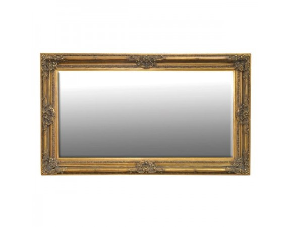 French Antique Gold Wooden Mirror