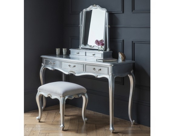 Alexandria French Silver Leaf Dressing Table