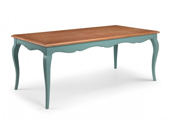 Alsace French Heavy Distressed Turquoise Dining Table