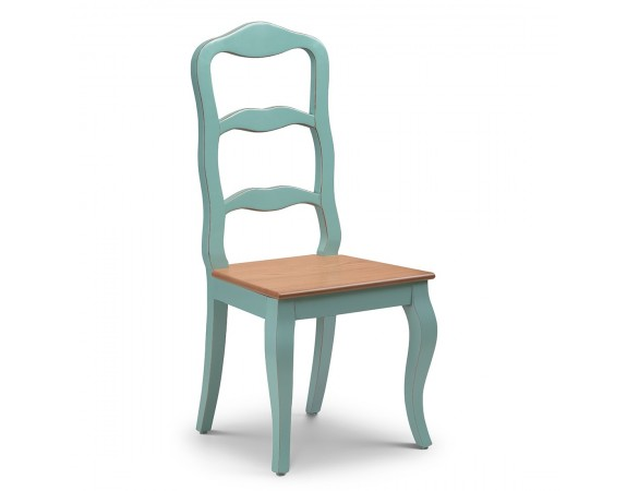 Alsace French Heavy Distressed Turquoise Dining Chair