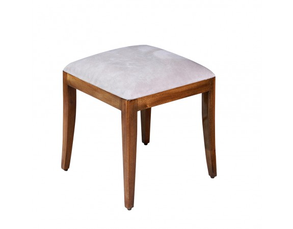 Antoinette French Upholstered Dressing Table Stool