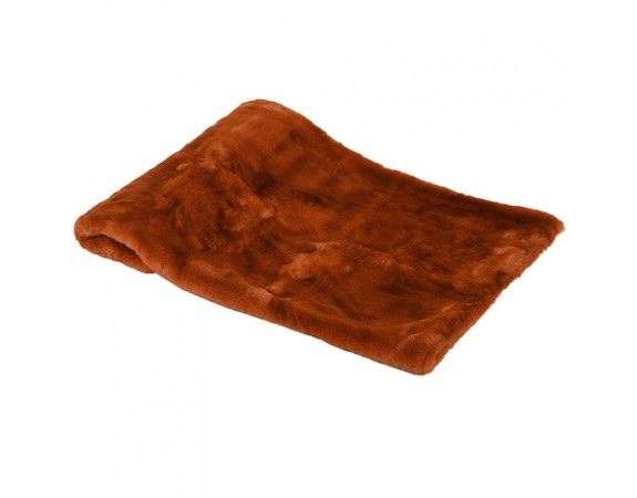 Burnt Amber Fur Throw
