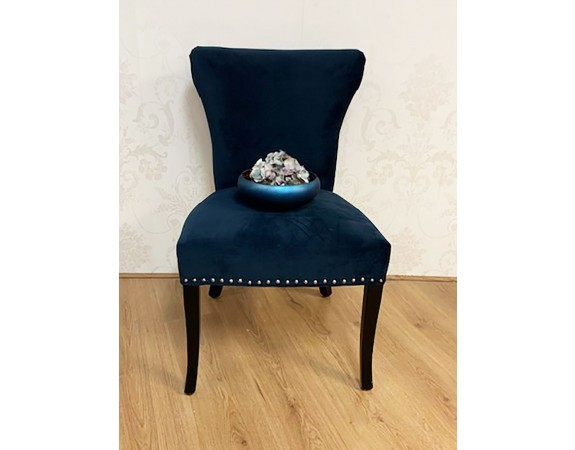 Velvet blue chair