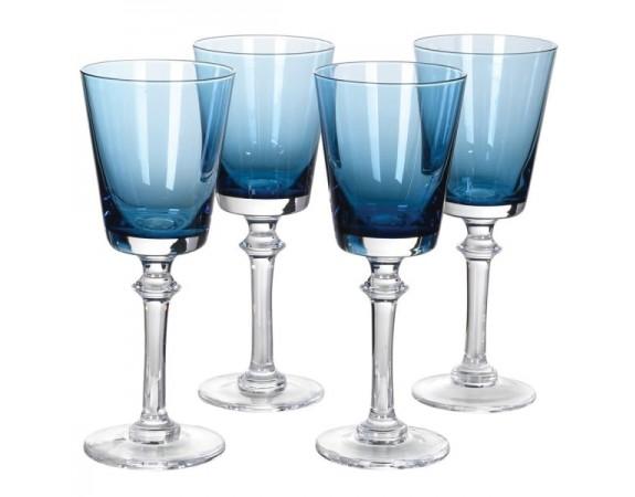Blue White Wine Glasses