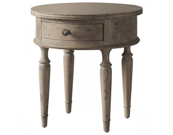 Camille Round Weathered Side Table