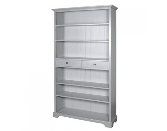 Chamonix Grey Bookcase with Drawers