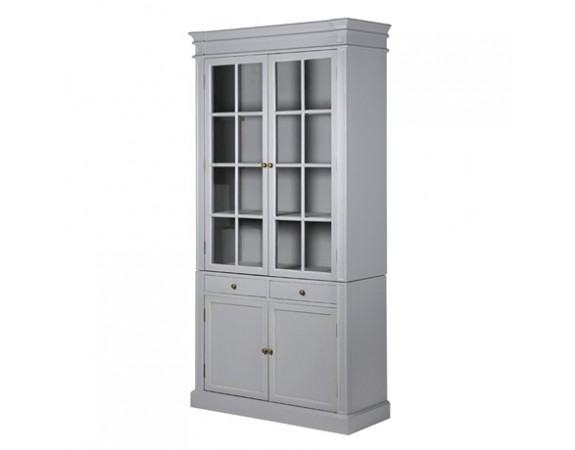 Chamonix Grey Glazed Bookcase