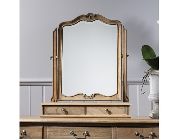 Charlotte French Inspired Oak Dressing Table Mirror French Carved Dressing Table With Mirror French Mirrors