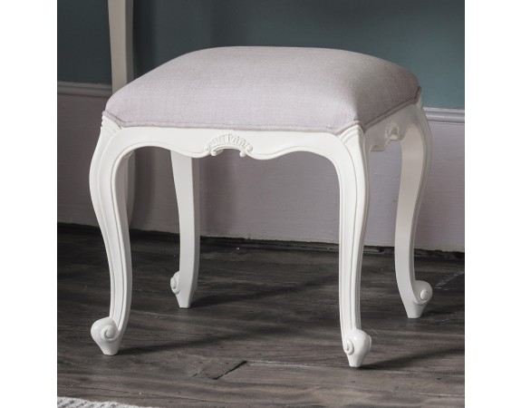Charlotte French Painted Ivory Stool