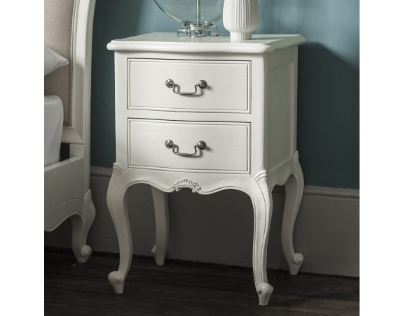 Charlotte French Painted Ivory Bedside Table Set