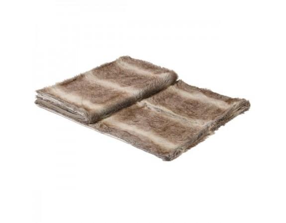 Chunky Stripe Fur Throw