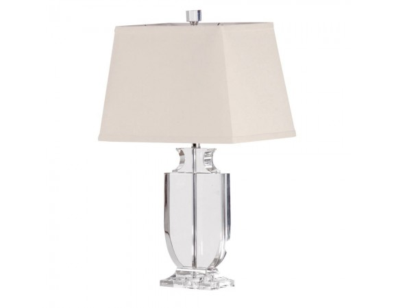 Clear Crystal Lamp Urn with Shade