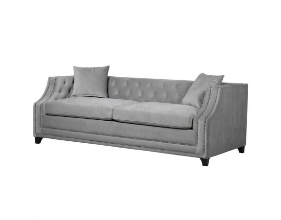 Grey Button Back Sofa Bed
