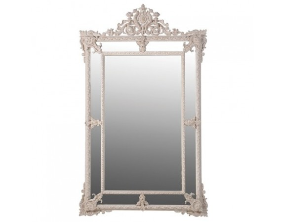 Cream Carved mirror