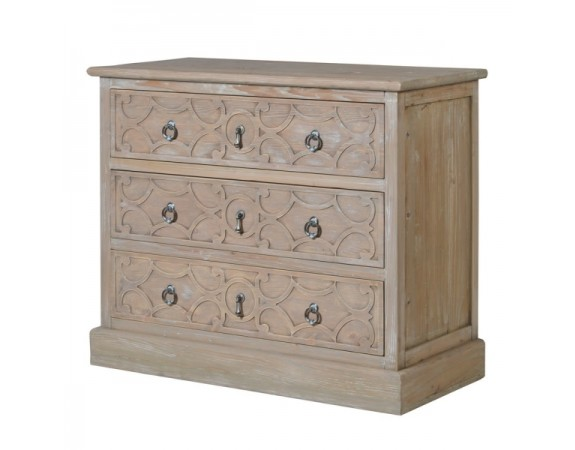 Lustre Natural Wood 3 Drawer Cabinet