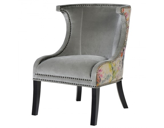 Floral Zinc Studded Chair