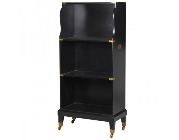 French Black Bookcase