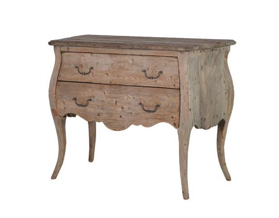 Giselle Reclaimed Pine French Bombe Chest