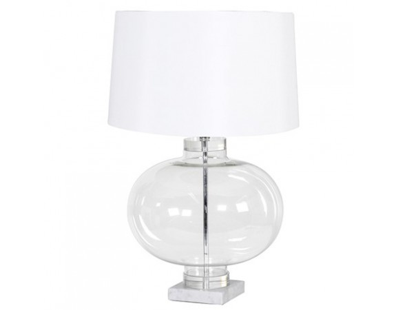 Glass Shade Marble Table Lamp | Oliver