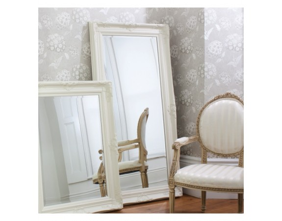 Harrow Cream Leaner Mirror French Style