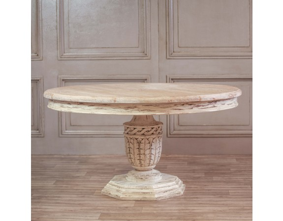 Heavy Distressed Round Dining Table