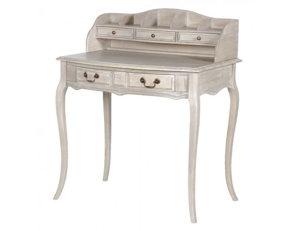 Helene Grey Lime Washed French Small Writing Desk