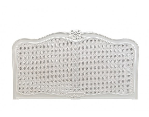 Ivory French Inspired Rattan Headboard
