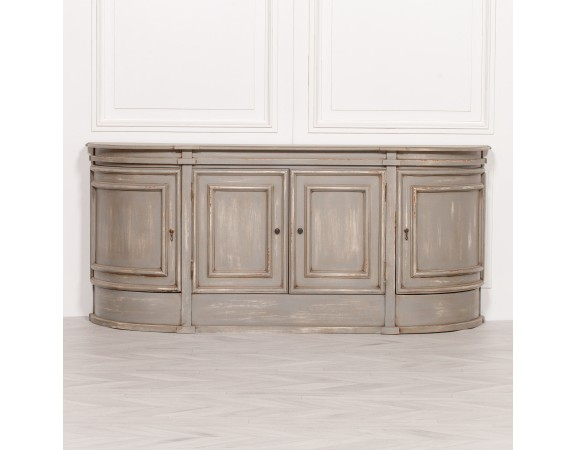 Large Wooden Distressed Sideboard