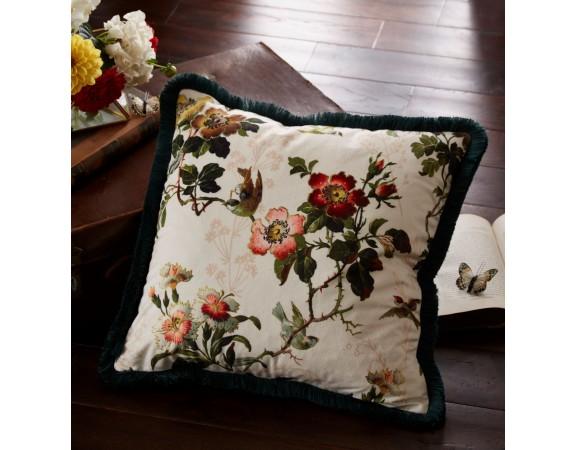 Oasis Leighton Ivory Velvet Cushion