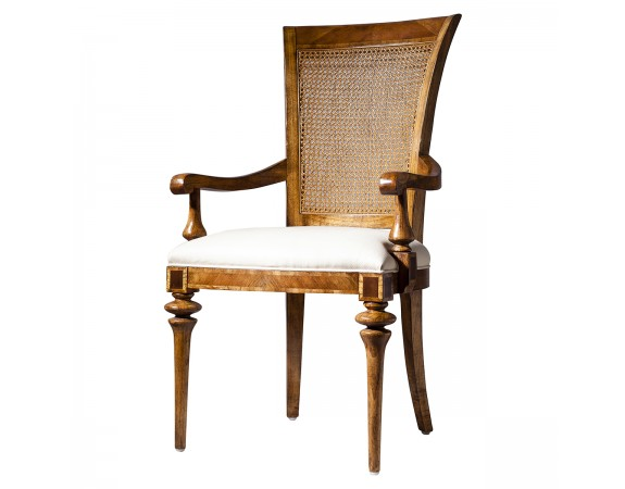 Lille Traditional French Rattan Back Armchair