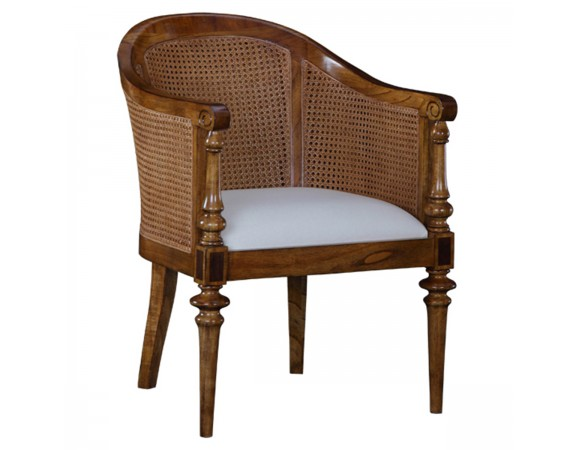 Lille French Rattan Back Bedroom Chair