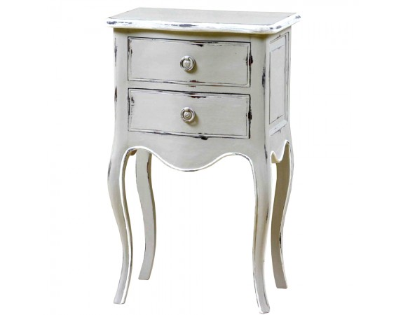 Louis French 2 Drawer Bedside Cabinet