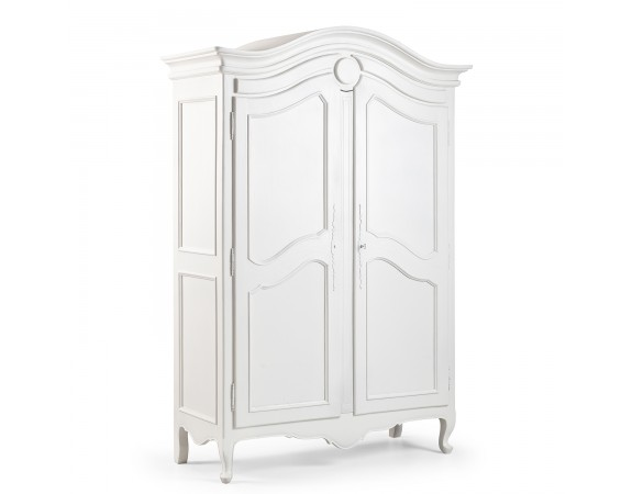 Louis French Carved 2 Door Armoire / Finished in Chalk