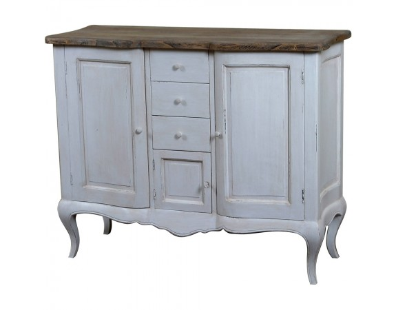 Louis French Style Buffet with Curved Doors