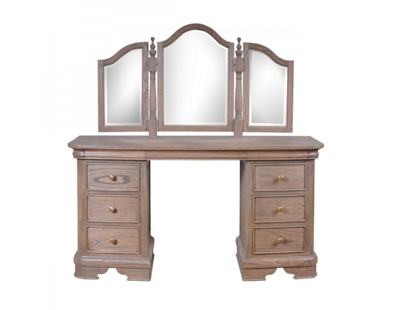 Louis Philippe French Weathered Sleigh Style Dressing Table