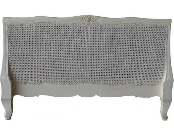 Louis XV Bergere Headboard Antique White
