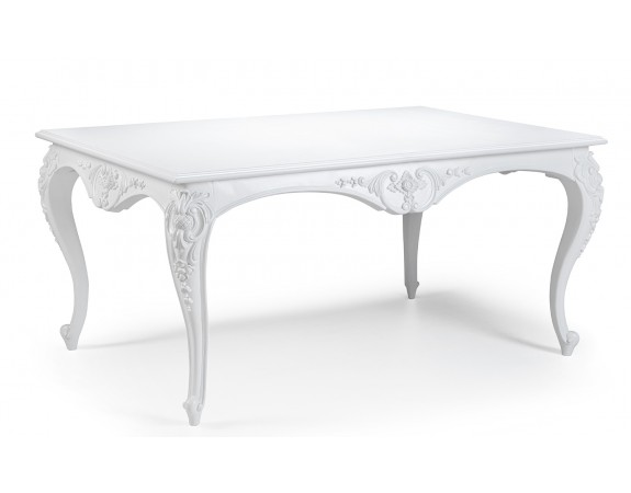 Lyon French Antique White Dining Table
