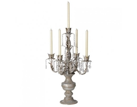 Ornate Candelabra with Droppers