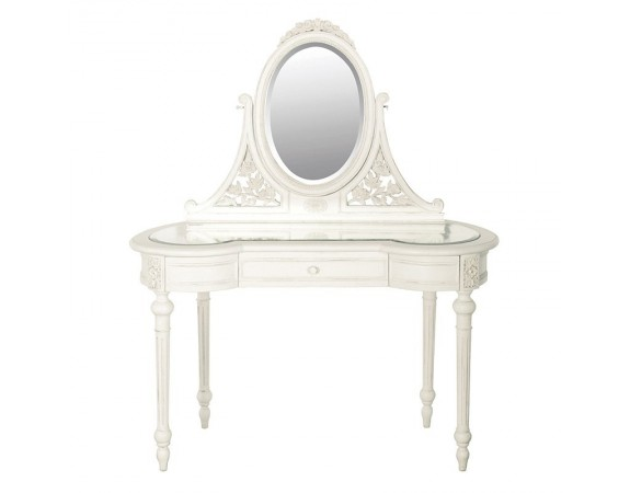 Antique White Provencale Glazed Dressing Table