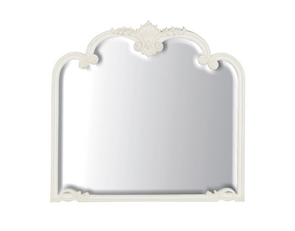 Provencale Antique White French Overmantel Mirror