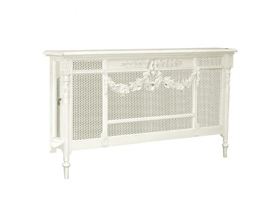 Provencale Antique White French Radiator Cover