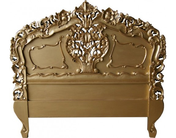 rococo antique gold headboard  crown french furniture, Headboard designs