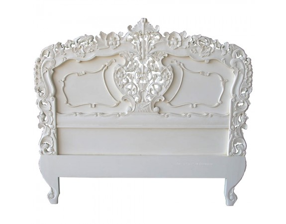 Rococo French White Headboard